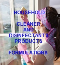 Alcohol Based Multi - purpose Household Cleaner And Disinfectant Formulations And Production Process