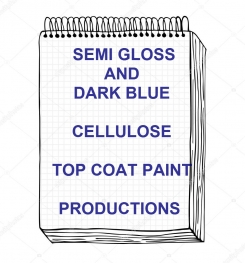 Semi Gloss And Dark Blue Cellulose Top Coat Paint Formulation And Production