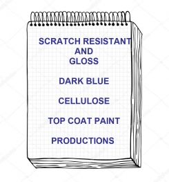 Scratch Resistant And Gloss Dark Blue Cellulose Top Coat Paint Formulation And Production