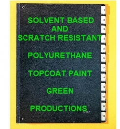 Solvent Based And Scratch Resistant Polyurethane Topcoat Paint Green Formulation And Production