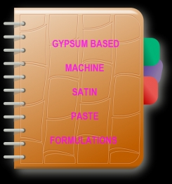 Gypsum Based Machine Satin Paste Formulation And Production