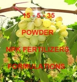 15 - 5 - 35 POWDER FOLIAR AND DRIPPING NPK FERTILIZER FORMULATIONS AND MANUFACTURING PROCESSES