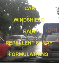 CAR WINDSHIELD RAIN REPELLENT SPRAY FORMULATION AND MANUFACTURING PROCESS