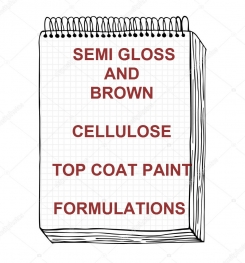 Semi Gloss Brown Cellulose Top Coat Paint Formulation And Production