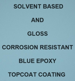 Solvent Based And Gloss Corrosion Resistant Blue Epoxy Topcoat Coating Formulation And Production