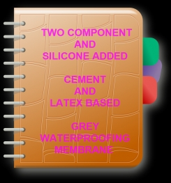 Two Component And Silicone Added Cement And Latex Based Grey Waterproofing Membrane Formulation And Production