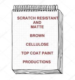 Scratch Resistant And Matte Brown Cellulose Top Coat Paint Formulation And Production