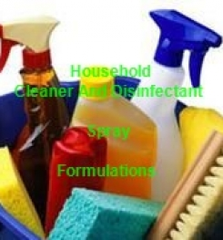 Benzalkonium Chloride and Alcohol Based Multi - purpose Household Cleaner and Disinfectant Spray Formulation And Production
