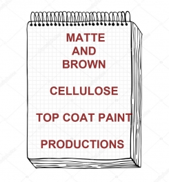 Matte And Brown Cellulose Top Coat Paint Formulation And Production